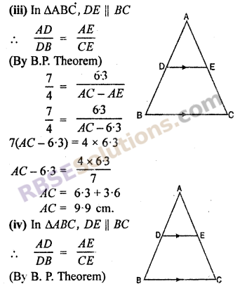 RBSE Solutions for Class 10 Maths Chapter 11 Similarity Ex 11.2 2
