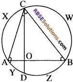 RBSE Solutions for Class 10 Maths Chapter 12 वृत्त Additional Questions 15
