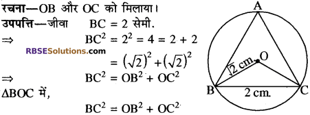 RBSE Solutions for Class 10 Maths Chapter 12 वृत्त Additional Questions 20