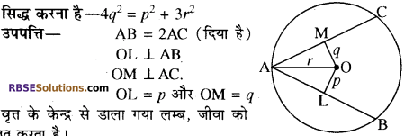 RBSE Solutions for Class 10 Maths Chapter 12 वृत्त Additional Questions 21