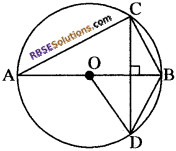 RBSE Solutions for Class 10 Maths Chapter 12 वृत्त Additional Questions 28