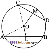 RBSE Solutions for Class 10 Maths Chapter 12 वृत्त Additional Questions 30