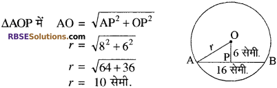 RBSE Solutions for Class 10 Maths Chapter 12 वृत्त Additional Questions 54