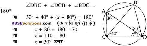 RBSE Solutions for Class 10 Maths Chapter 12 वृत्त Additional Questions 79