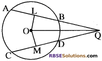 RBSE Solutions for Class 10 Maths Chapter 12 वृत्त Additional Questions 95