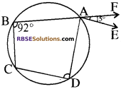RBSE Solutions for Class 10 Maths Chapter 12 वृत्त Additional Questions 99