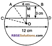 RBSE Solutions for Class 10 Maths Chapter 12 Circle Ex 12.2 2