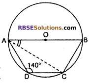 RBSE Solutions for Class 10 Maths Chapter 12 Circle Miscellaneous Exercise 10