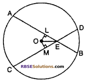 RBSE Solutions for Class 10 Maths Chapter 12 Circle Miscellaneous Exercise 13