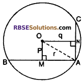 RBSE Solutions for Class 10 Maths Chapter 12 Circle Miscellaneous Exercise 25