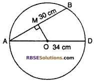 RBSE Solutions for Class 10 Maths Chapter 12 Circle Miscellaneous Exercise 3