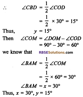 RBSE Solutions for Class 10 Maths Chapter 12 Circle Miscellaneous Exercise 30
