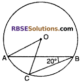 RBSE Solutions for Class 10 Maths Chapter 12 Circle Miscellaneous Exercise 6