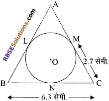 RBSE Solutions for Class 10 Maths Chapter 13 वृत्त एवं स्पर्श रेखा Additional Questions 16