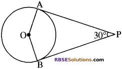 RBSE Solutions for Class 10 Maths Chapter 13 वृत्त एवं स्पर्श रेखा Additional Questions 17