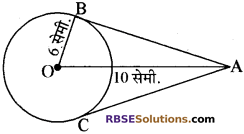 RBSE Solutions for Class 10 Maths Chapter 13 वृत्त एवं स्पर्श रेखा Additional Questions 19