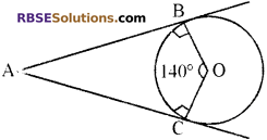 RBSE Solutions for Class 10 Maths Chapter 13 वृत्त एवं स्पर्श रेखा Additional Questions 28
