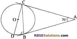 RBSE Solutions for Class 10 Maths Chapter 13 वृत्त एवं स्पर्श रेखा Additional Questions 3