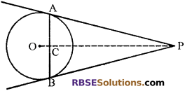 RBSE Solutions for Class 10 Maths Chapter 13 वृत्त एवं स्पर्श रेखा Additional Questions 33