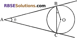 RBSE Solutions for Class 10 Maths Chapter 13 वृत्त एवं स्पर्श रेखा Additional Questions 34