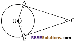 RBSE Solutions for Class 10 Maths Chapter 13 वृत्त एवं स्पर्श रेखा Additional Questions 55