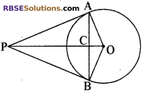 RBSE Solutions for Class 10 Maths Chapter 13 वृत्त एवं स्पर्श रेखा Ex 13.1 11