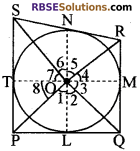 RBSE Solutions for Class 10 Maths Chapter 13 वृत्त एवं स्पर्श रेखा Ex 13.1 9