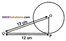RBSE Solutions for Class 10 Maths Chapter 13 Circle and Tangent Additional Questions 1