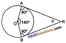 RBSE Solutions for Class 10 Maths Chapter 13 Circle and Tangent Additional Questions 11