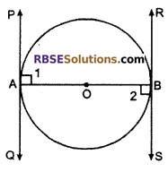 RBSE Solutions for Class 10 Maths Chapter 13 Circle and Tangent Additional Questions 13