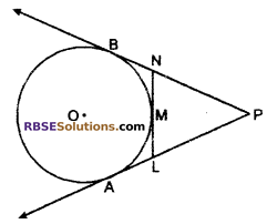 RBSE Solutions for Class 10 Maths Chapter 13 Circle and Tangent Additional Questions 14