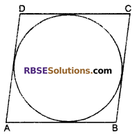 RBSE Solutions for Class 10 Maths Chapter 13 Circle and Tangent Additional Questions 15