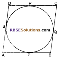RBSE Solutions for Class 10 Maths Chapter 13 Circle and Tangent Additional Questions 16
