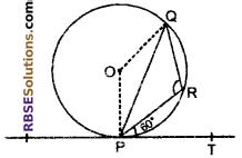 RBSE Solutions for Class 10 Maths Chapter 13 Circle and Tangent Additional Questions 17