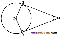 RBSE Solutions for Class 10 Maths Chapter 13 Circle and Tangent Additional Questions 18