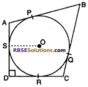 RBSE Solutions for Class 10 Maths Chapter 13 Circle and Tangent Additional Questions 19