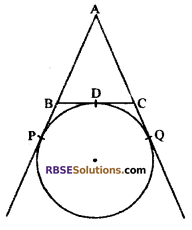RBSE Solutions for Class 10 Maths Chapter 13 Circle and Tangent Additional Questions 2