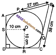 RBSE Solutions for Class 10 Maths Chapter 13 Circle and Tangent Additional Questions 20