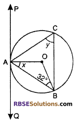 RBSE Solutions for Class 10 Maths Chapter 13 Circle and Tangent Additional Questions 22