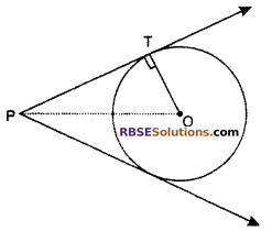 RBSE Solutions for Class 10 Maths Chapter 13 Circle and Tangent Additional Questions 8