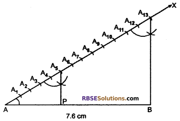 RBSE Solutions for Class 10 Maths Chapter 14 Constructions Additional Questions 1