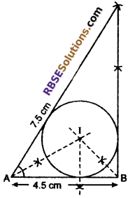 RBSE Solutions for Class 10 Maths Chapter 14 Constructions Additional Questions 12