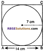 RBSE Solutions for Class 10 Maths Chapter 15 Circumference and Area of a Circle Ex 15.3 1