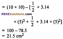 RBSE Solutions for Class 10 Maths Chapter 15 Circumference and Area of a Circle Ex 15.3 18