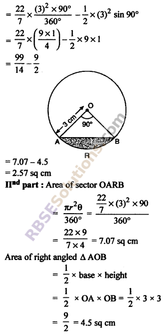 RBSE Solutions for Class 10 Maths Chapter 15 Circumference and Area of a Circle Ex 15.3 5
