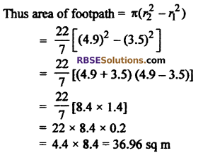 RBSE Solutions for Class 10 Maths Chapter 15 Circumference and Area of a Circle Ex 15.3 8