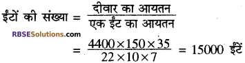 RBSE Solutions for Class 10 Maths Chapter 16 पृष्ठीय क्षेत्रफल एवं आयतन Ex 16.1 2