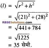 RBSE Solutions for Class 10 Maths Chapter 16 पृष्ठीय क्षेत्रफल एवं आयतन Ex 16.3 2