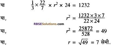 RBSE Solutions for Class 10 Maths Chapter 16 पृष्ठीय क्षेत्रफल एवं आयतन Ex 16.3 5