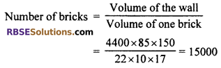 RBSE Solutions for Class 10 Maths Chapter 16 Surface Area and Volume Ex 16.1 2